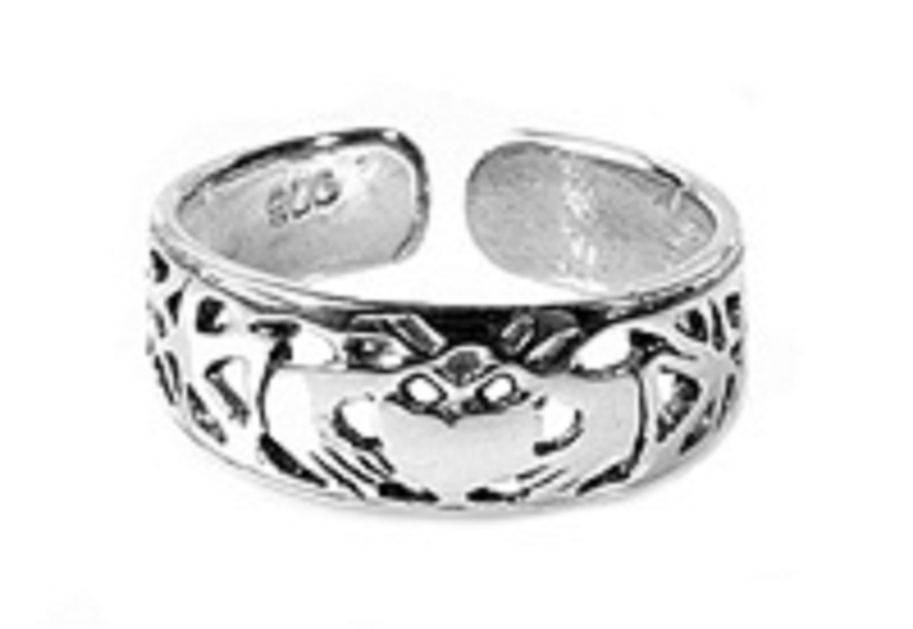 Filigree Claddagh Adjustable Toe Ring