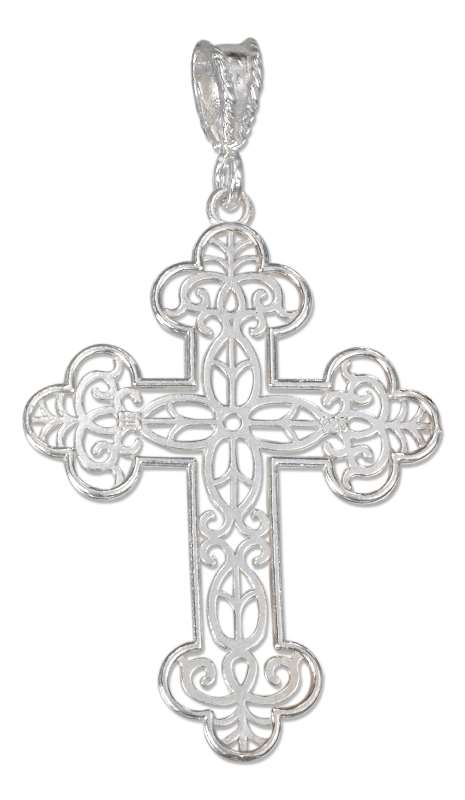 Filigree Christian Religious Cross Pendant
