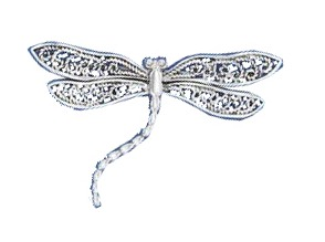 Filigree Winged Butterfly Pin Brooch