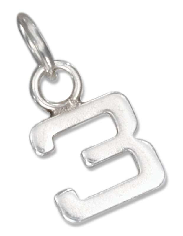 Number Three 3 Charms