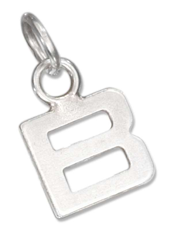 Lined Letter B Charm
