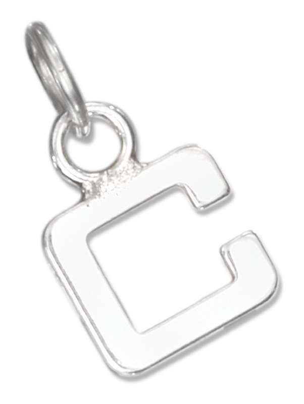 Lined Letter C Charm