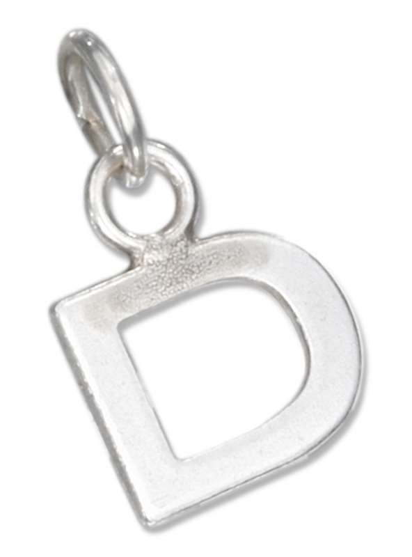 Lined Letter D Charm
