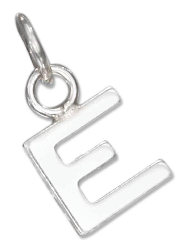 Lined Letter E Charm