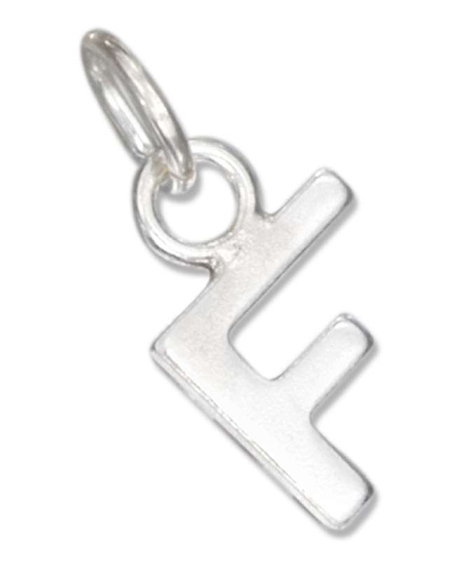 Lined Letter F Charm
