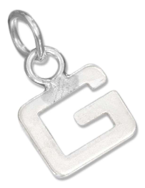 Lined Letter G Charm