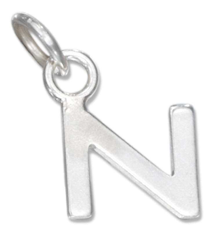 Lined Letter N Charm