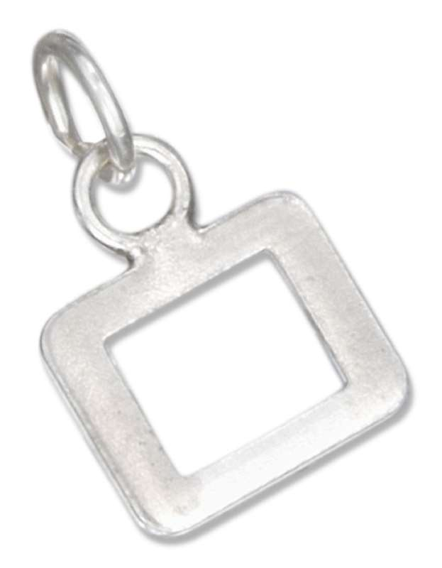 Lined Letter O Charm