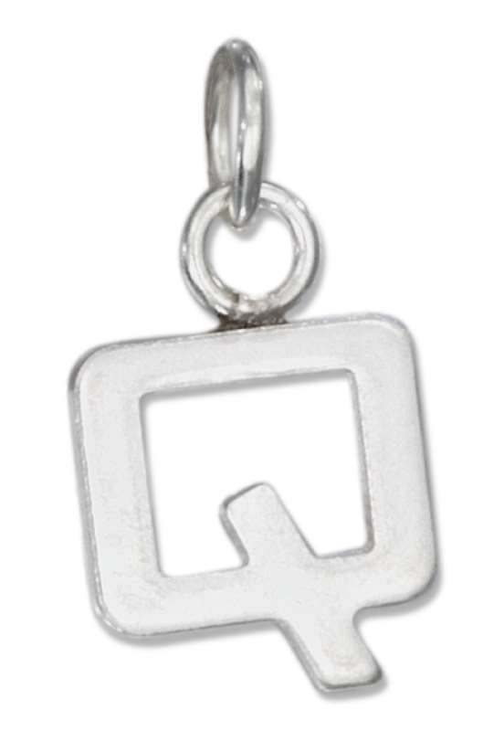 Lined Letter Q Charm