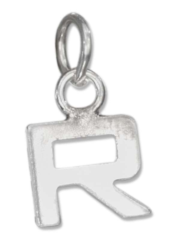 Lined Letter R Charm