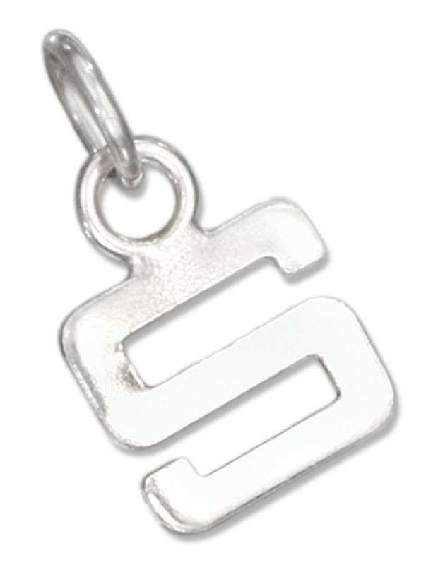 Lined Letter S Charm