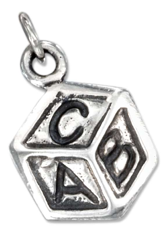 A B C Baby Childs Block Charm