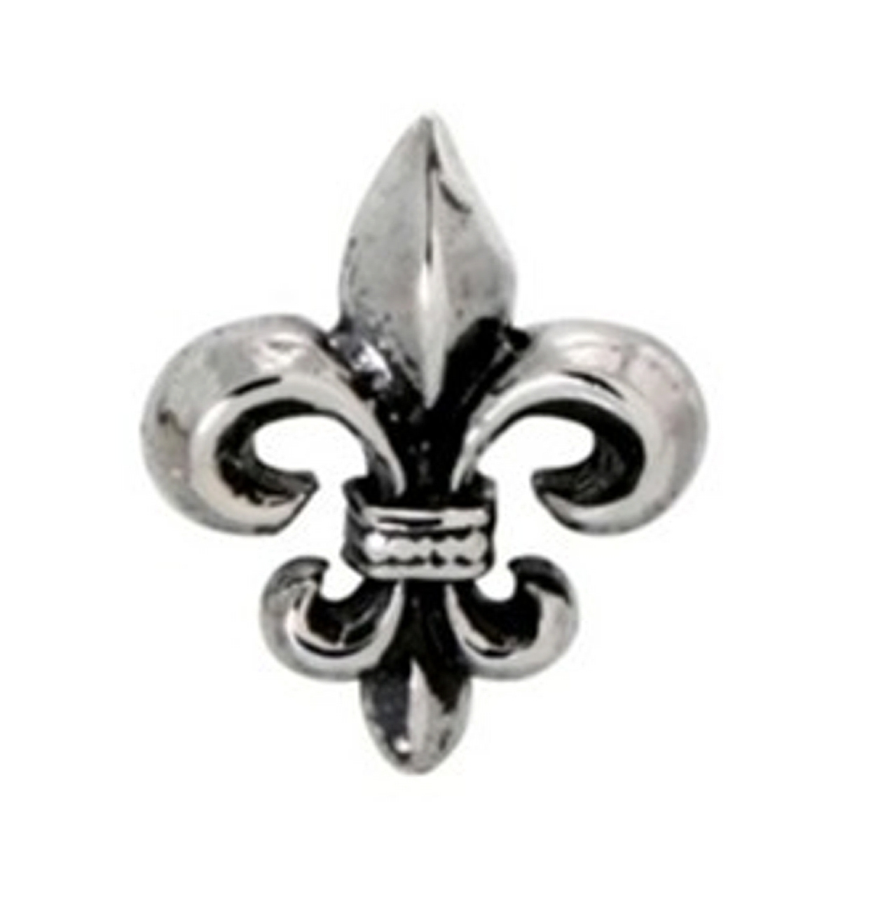 Single Small Fleur De Lis Post Earrings