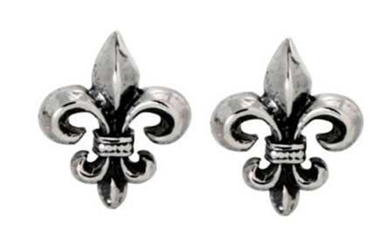 Small Fleur De Lis Post Earrings
