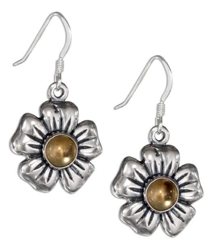 Flower Citrine Dangle Earrings