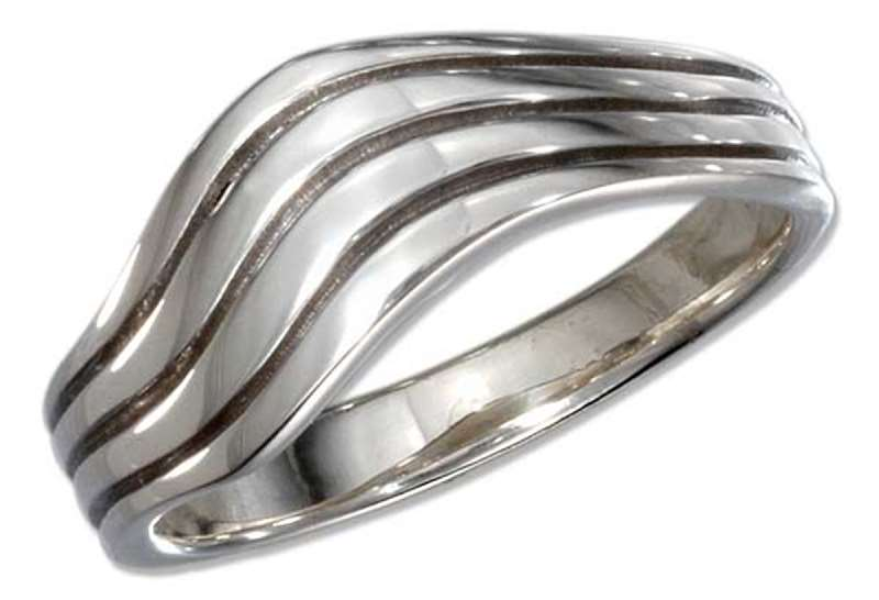 Unisex 4 Band Wavering Twisted Ring