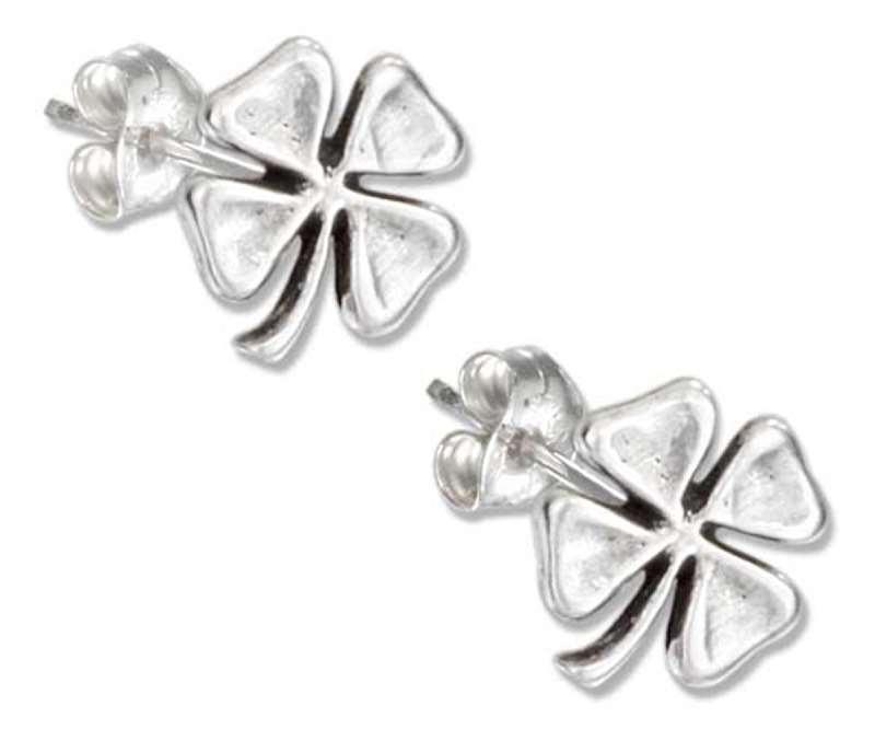 Four 4 Leaf Clover Post Earrings