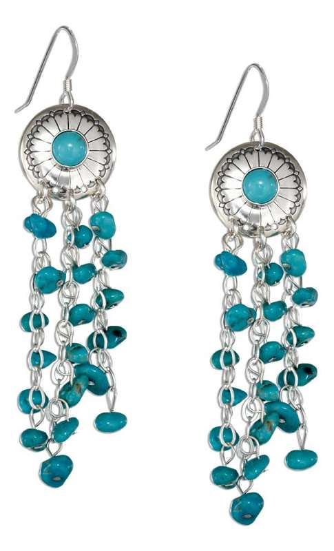 Turqoise Concho Dangle Earrings