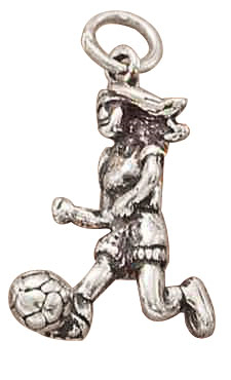 3D Running Girl Soccer Player Sports Charm Kicking Soccer Ball
