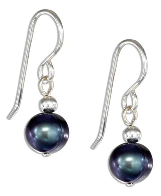 Gray Freshwater Pearl Drop Earrings