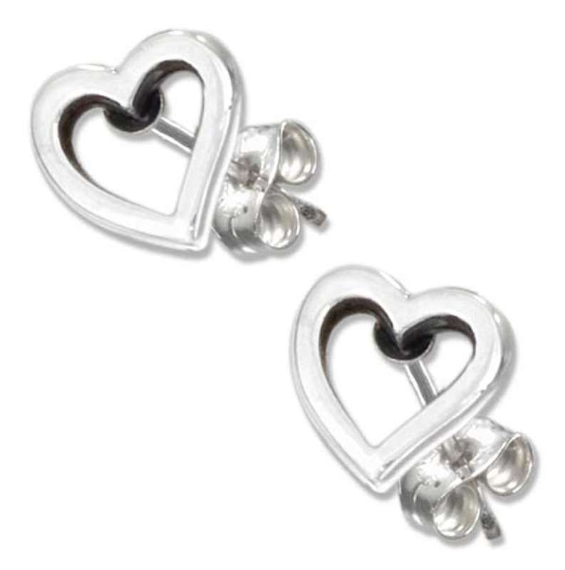 Heart Outline Post Earrings