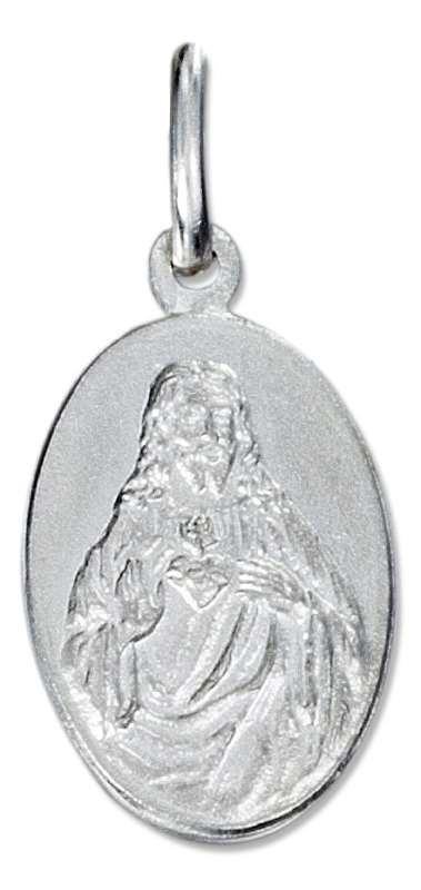High Polish Oval Jesus Medal Charm