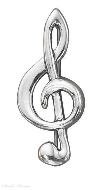 Treble Clef Pins & Brooches