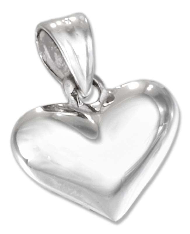 3D Small Wide Puffed Heart Pendant