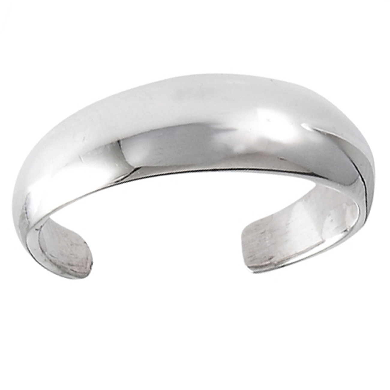 Convex Surface Tapered Plain Adjustable Toe Ring
