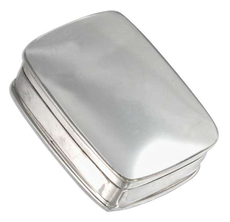 Small High Polished Square Pill Box