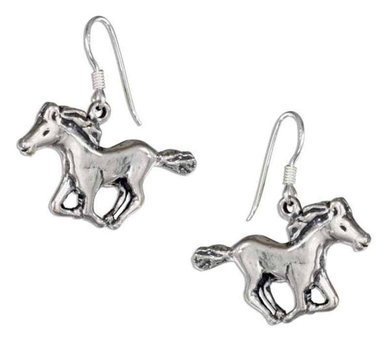 Ea 2482 Horse Dangle Earrings