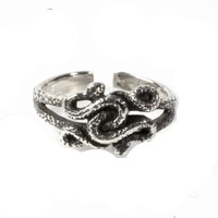 Intertwined Snakes Adjustable Toe Ring