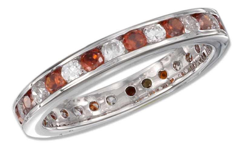 January Birthstone Eternity Ring