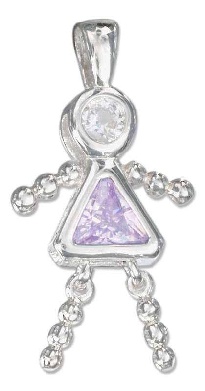 June Birthstone Brat Child Baby Girl Charm Pendant
