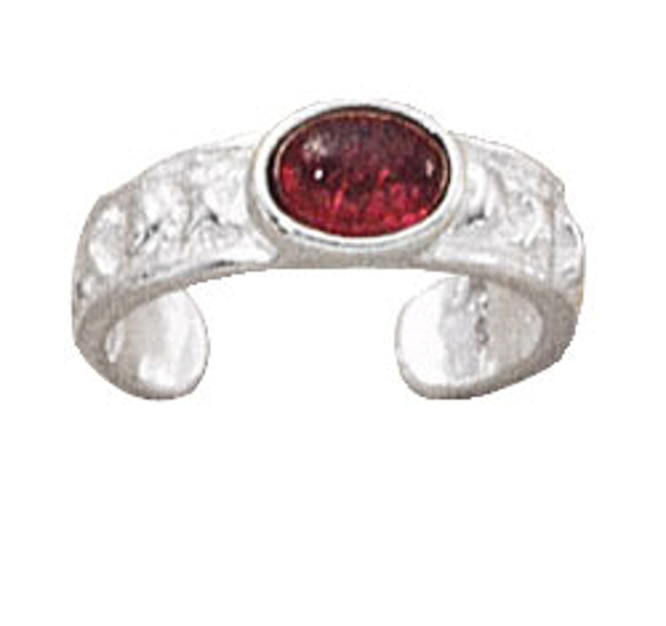 Love Kisses Garnet Toe Ring