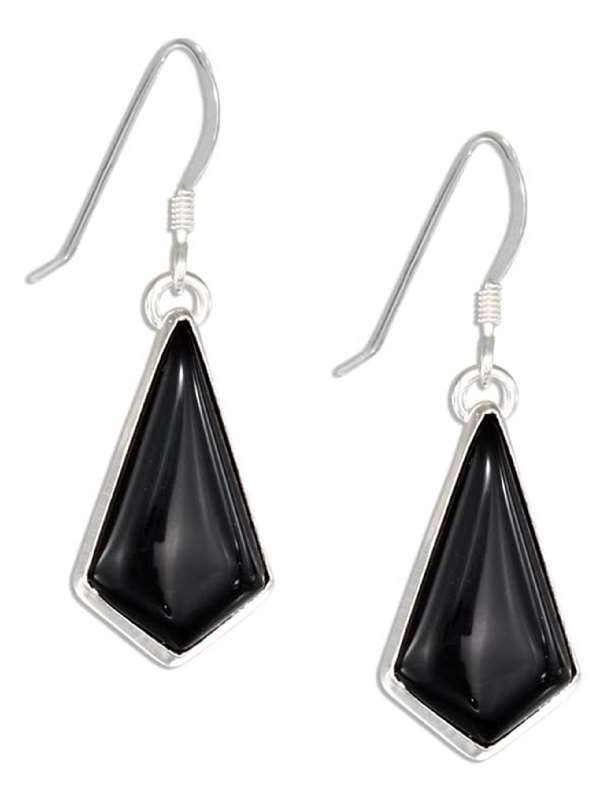 Kite Shaped Black Onyx Earrings
