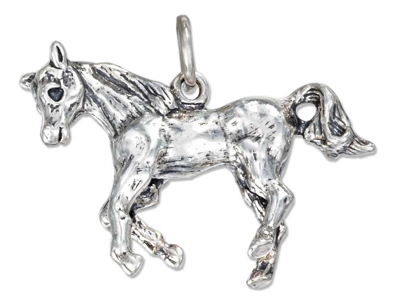 Large 3D Running Horse Charm