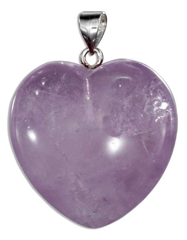 Purple Amethyst Heart Pendant
