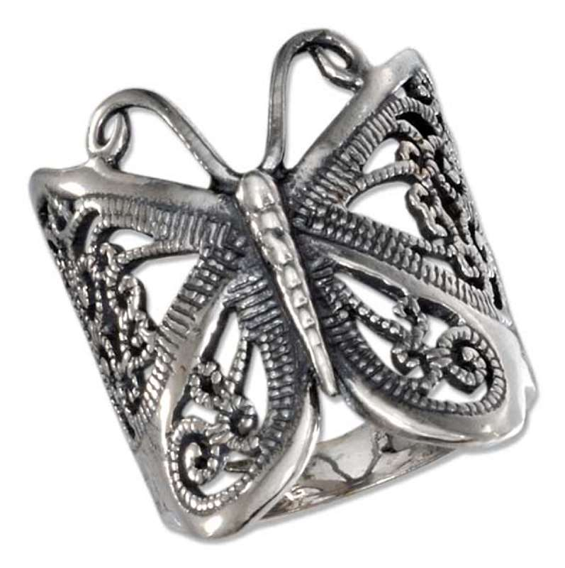 Butterfly Filigree Ring