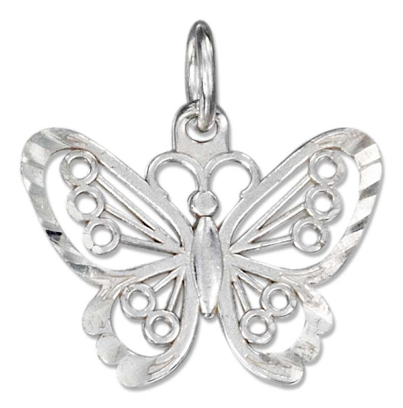 Large Filigree Butterfly Charm