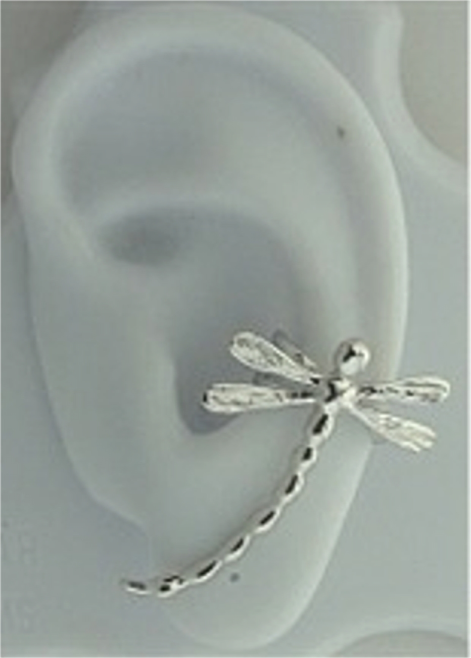 Pierceless Left Large Dragonfly Ear Cuff