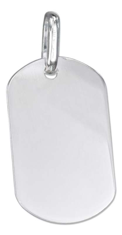 Large Engraveable Dog Tag Pendant