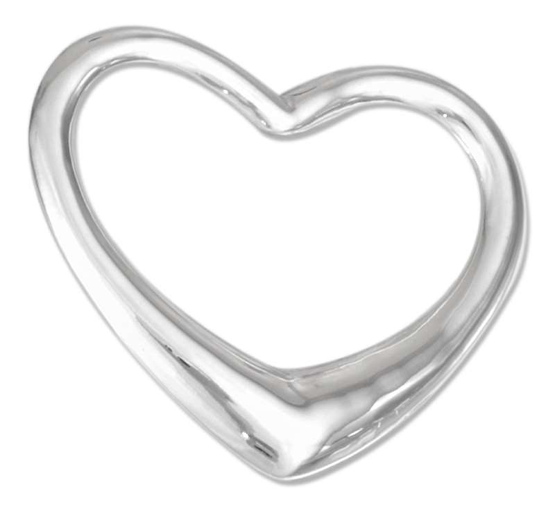 3D Medium Size Floating Heart Pendant