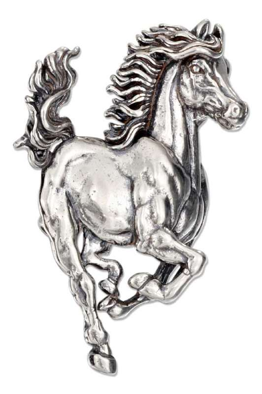 Large Horse Animal Brooch Pin Or Pendant