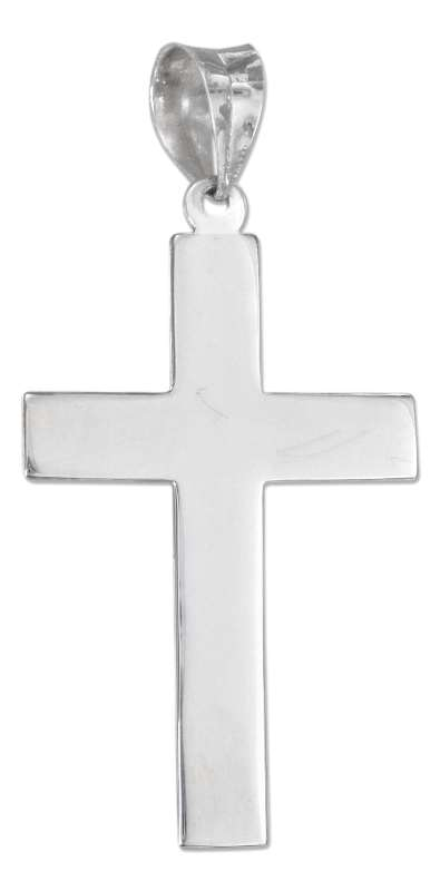 Flat Simple Christian Religious Cross Pendant