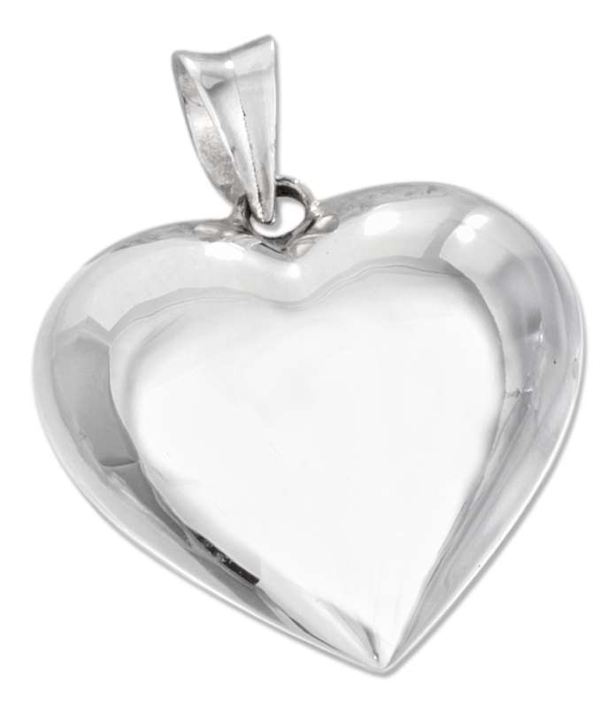 Sterling silver puffed 3d heart pendant aunties treasures online 3d puffed heart pendant aloadofball Images