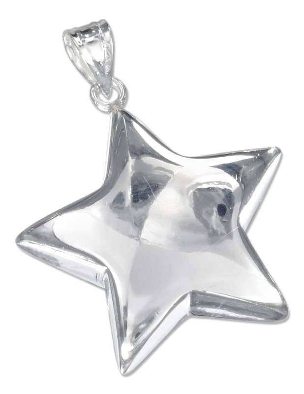 Sterling silver star pendants ch 2391 large engraveable shining star pendant mozeypictures Image collections