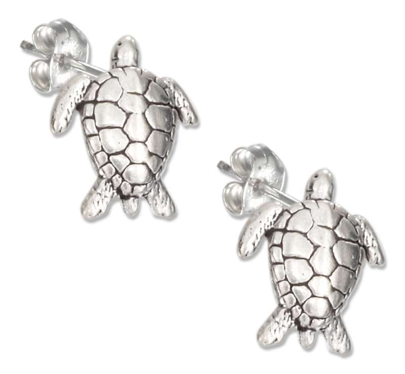 Turtle Post Earrings