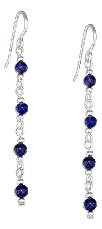 Lapis Beads Dangle Earrings
