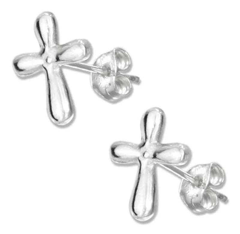 Christian Cross Post Earrings